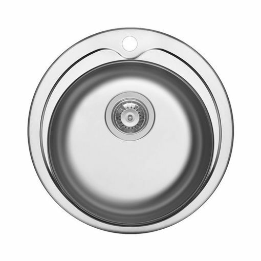 Picture of PREP BOWL WITH TAP HOLE 485 x 163