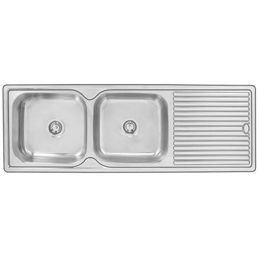 Picture of DOUBLE END BOWL DROP IN SINK 1450 x 500