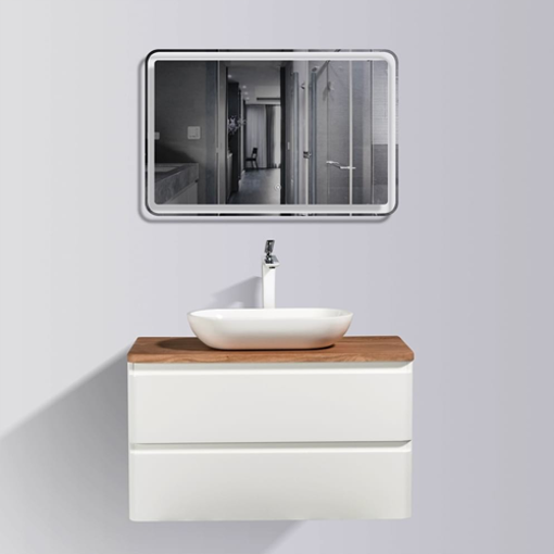 Picture of LAZIO 900 DOUBLE DRAWER TOP & BASIN COMBO