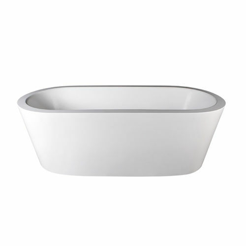 Picture of DADOquartz PERTH F/STAND OVAL BATH GL WH 1785 x 800