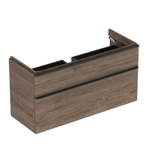 Picture of SMYLE SQ CABINET 4 HAND WASH BASIN 2 DRAWER 1184 x 470 x 617 (HICKORY)
