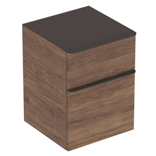 Picture of SMYLE SQUARE LOW CABINET 2 DRAWER 450 x 470 x 600 (HICKORY)